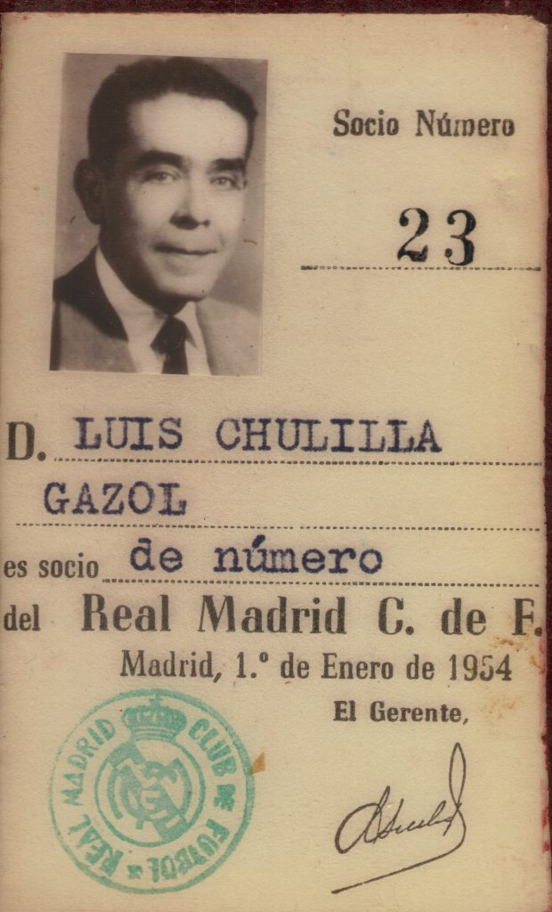 carnet Real Madrid Luis Chulilla