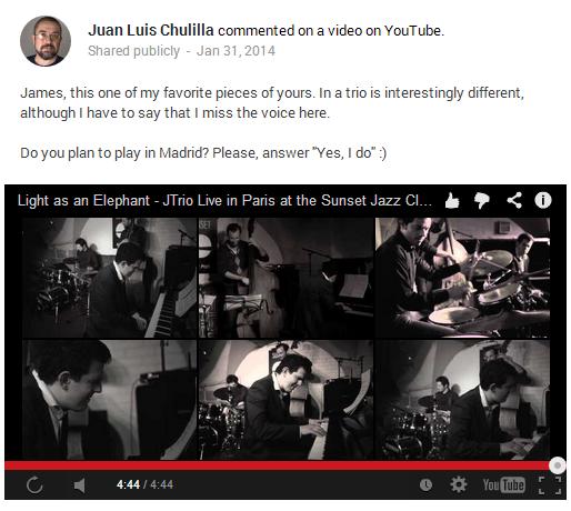 Mensaje a través de youtube